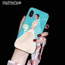 MaiYaCa красивое белое свадебное платье для невесты чехол для телефона для iphone SE 2020 11 pro 8 7 66S Plus X 10 5S SE XS XR XS MAX(China)