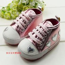 Soft outsole baby shoes infant shoes skidproof toddler shoes pink lovery 6pairs/lot(China (Mainland))
