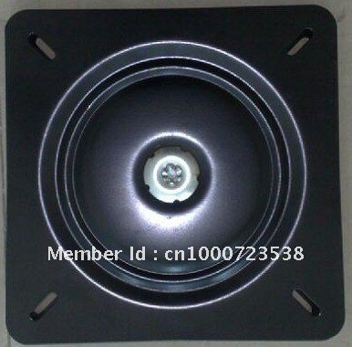 12 inch black 360 degree and flat swivel plate ,furniture hardware, barstool turntable(China (Mainland))