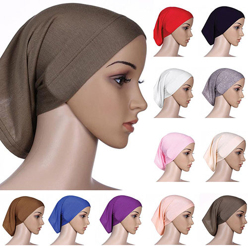 2015 Gorgeous!!! Islamic Muslim Women's Head Scarf Cotton Underscarf Hijab Cover Bonnet 9FAO(China (Mainland))