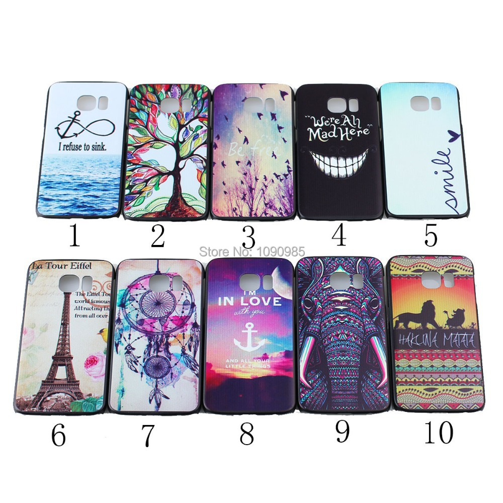 Cartoon 2015 Best Selling Foreign Trade Hard PC Phone Case Printing Embossed phone Case Cover for Samsung Galaxy S6 Edge G925(China (Mainland))