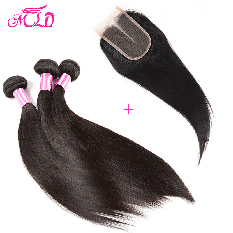 Brazilian Straight Hair With Closure 3pcs Lot Straight Hair With Closure 7a Brazilian Virgin Hair With Closure Sky Human Hair<br><br>Aliexpress