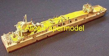 [Alice papermodel] Long 30CM WWII sms Landing Craft boats Train car Ferry tugboat cargo ship Passenger liner models