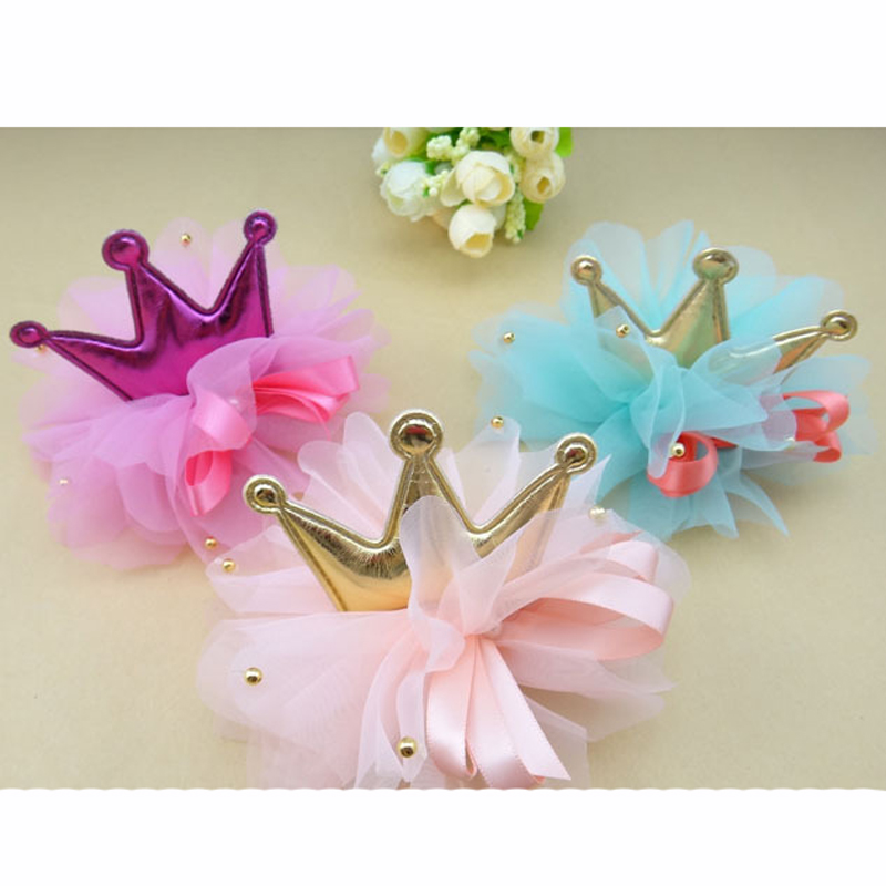 Free Shipping 5pcs/lot fashion cute flower Crown Designs Pet Puppy Cat Dog Bows Hairclip Barrettes Products pet Accessories(China (Mainland))