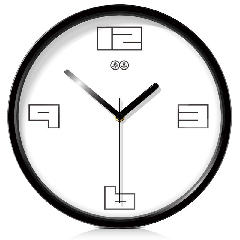 Horloge murale en m tal promotion achetez des horloge for Grande horloge murale moderne