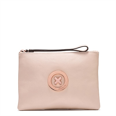 FREE SHIPPING Mimco Medium Lovely pouch PANCAKE COLOR SUPERNATURAL soft leather <br><br>Aliexpress