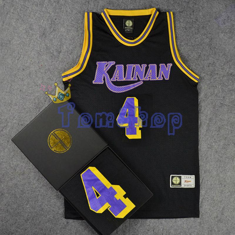 Anime SLAM DUNK Kainan Point Guard #4 SHINICHI MAKI Cosplay Guest Black Basketball Jersey Tops Shirts Sports Wear Team Uniform(China (Mainland))