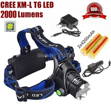 Miners Light – AloneFire HP79 Head light Cree XM-L T6 led 2000LM rechargeable +18650 battery Charger