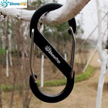 5PCS 8-Shaped Aluminum Carabiner KeyChain Hook Clip Camping Equipment EDC Gear Traveller Slide Lock Water Bottle Buckles Snap(China (Mainland))
