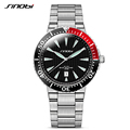 2016 Men s Stainless Steel Watches SINOBI Mens Casual Watches for Diving Waterproof Luxury Brand Males