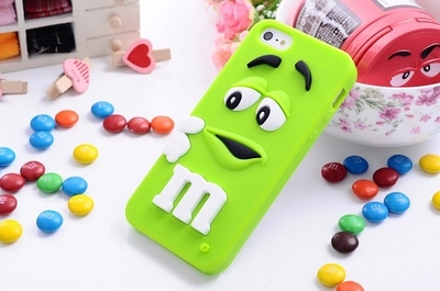 For iphone 6 cases M&M's chocolate candy rubber soft silicone cartoon cell phone case covers for iphone6 4.7inch(China (Mainland))