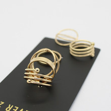 2015 Latest Fashion Punk Gold Plated Stackable Midi Ring Sets For Women Ensemble bijoux Wholesale 6pcs