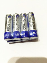 4pcs AA 3000mAh 1.2 V Ni-MH Rechargeable Battery For RC Toys Camera MP3