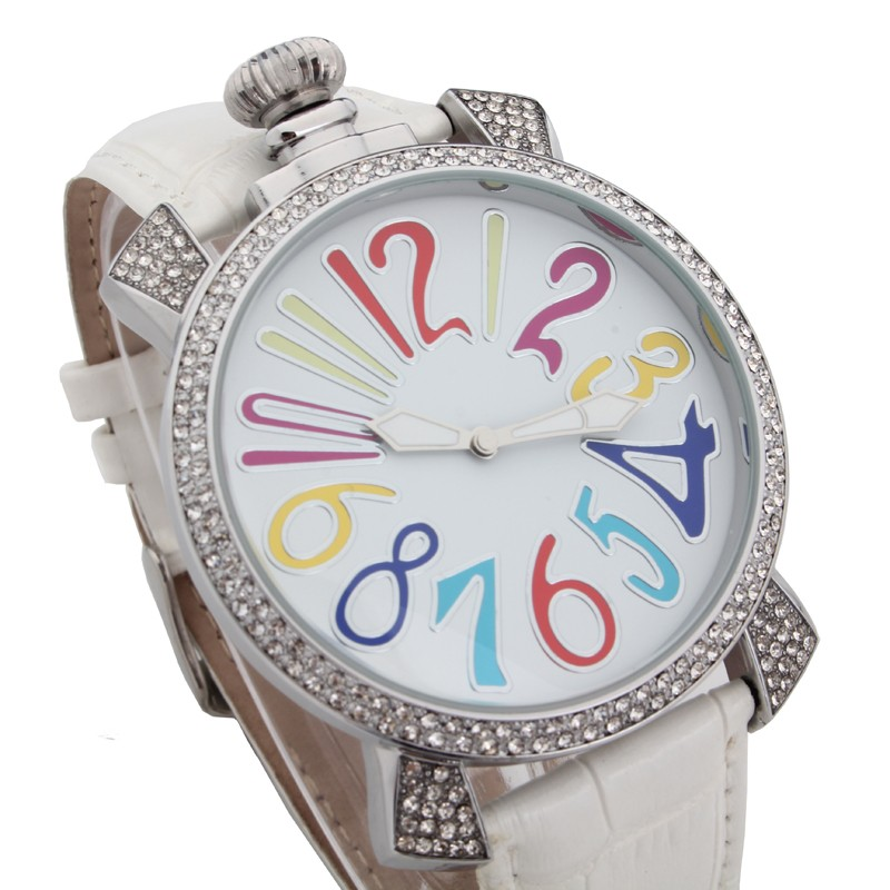 Мода железные леди часы новый итальянский гага часы мода гага кварцевые часы унисекс большой циферблат часы 48 мм montre 2016