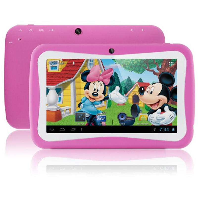 "New 7"" Android 4.1 Tablet PC For Kids Children Preloaded Fun Apps 5 Points Touch Dual Camera WiFi Colorful Soft Cover(China (Mainland))"