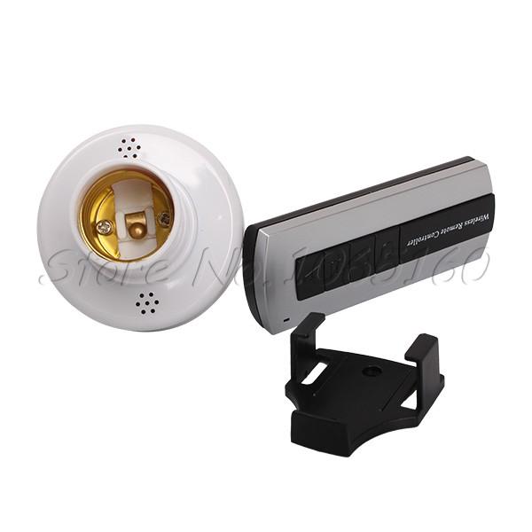 Intelligent Wireless Remote Control E27 Lamp Holder Light Socket Switch w/ Base(China (Mainland))