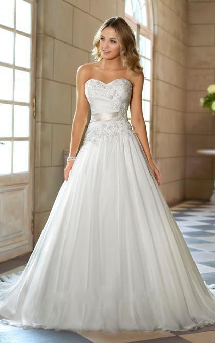 Сексуальный милая свадебные платья с аппликацией невесты халат mariage свадебные платья длиной до пола свадебное платье 2016 vestidos novia