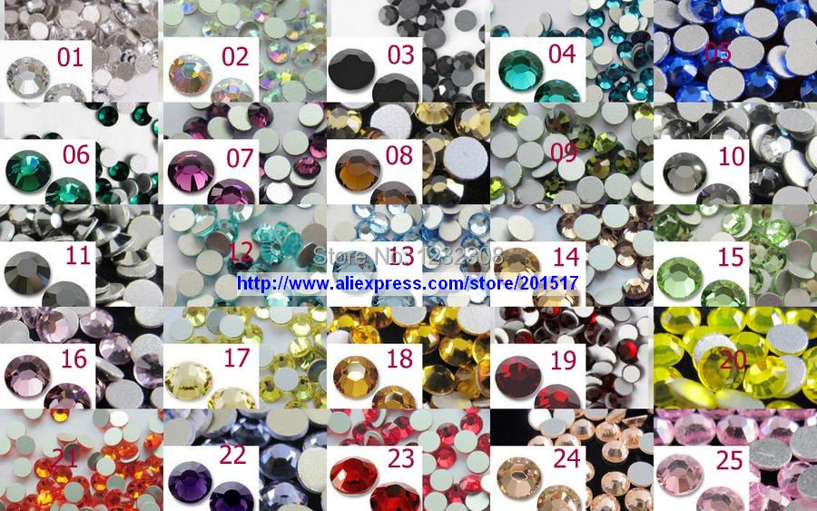 20 Colors 5760pcs SS30 Nail Rhinestones 40Gross Free shipping by Fedex and EMS<br><br>Aliexpress