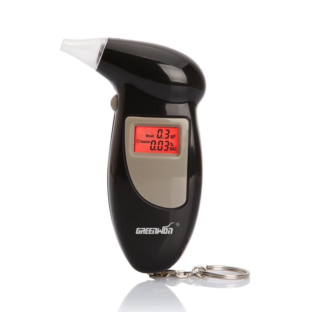 Цифровой красный подсветкой жк-дисплей спирт алкотестер тестер детектор с коробка подарок брелок