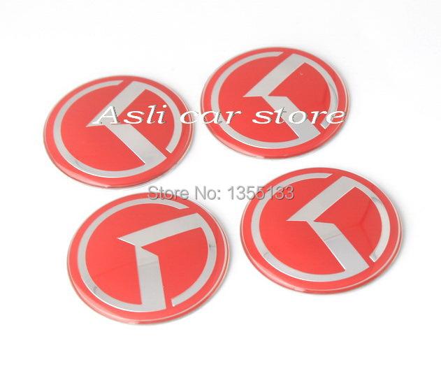 Red 60mm KIA RIO SPORTAGE SORENTO Wheel Center Cover emblem Badge sticker for SOUL K5 K2 K7(China (Mainland))