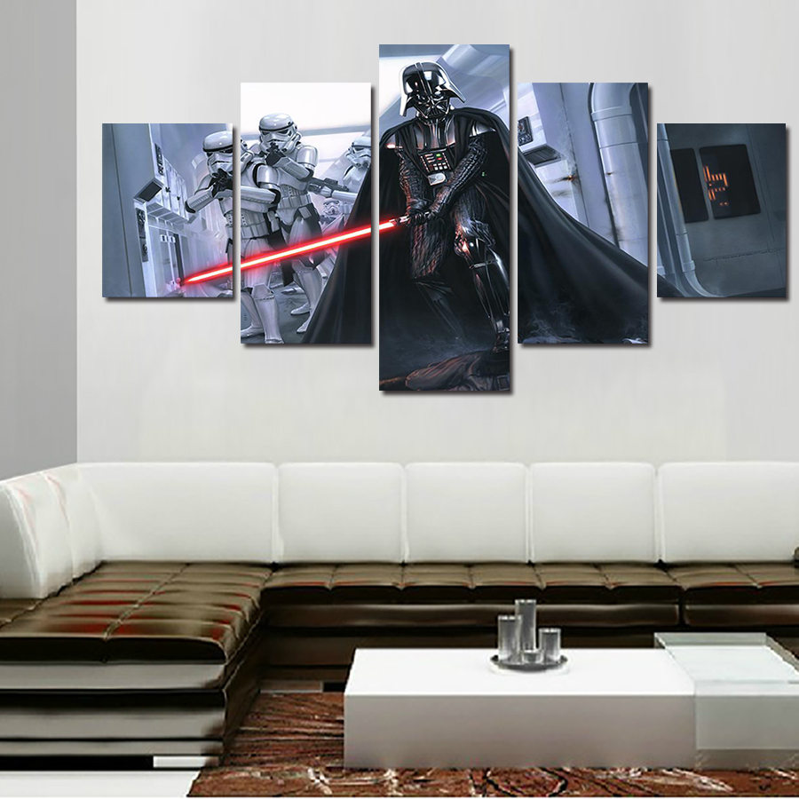 2016 promotion fallout wall art framed star wars darth for Star wars home decorations