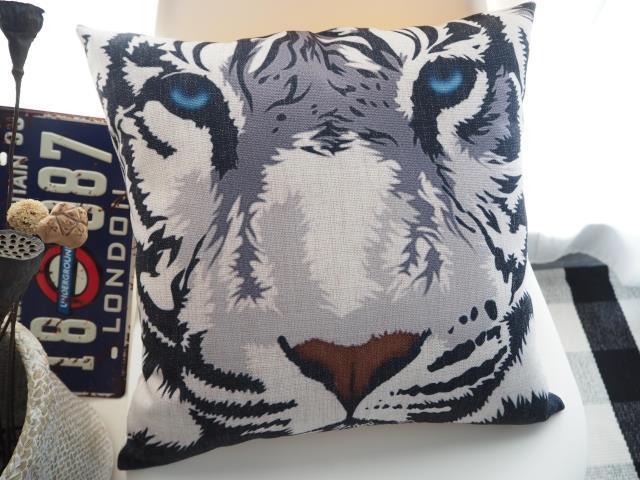Exotic modern Domineering animal tiger pillow tiger head Pillow cushion Linen pillowcase home decorative Pillows