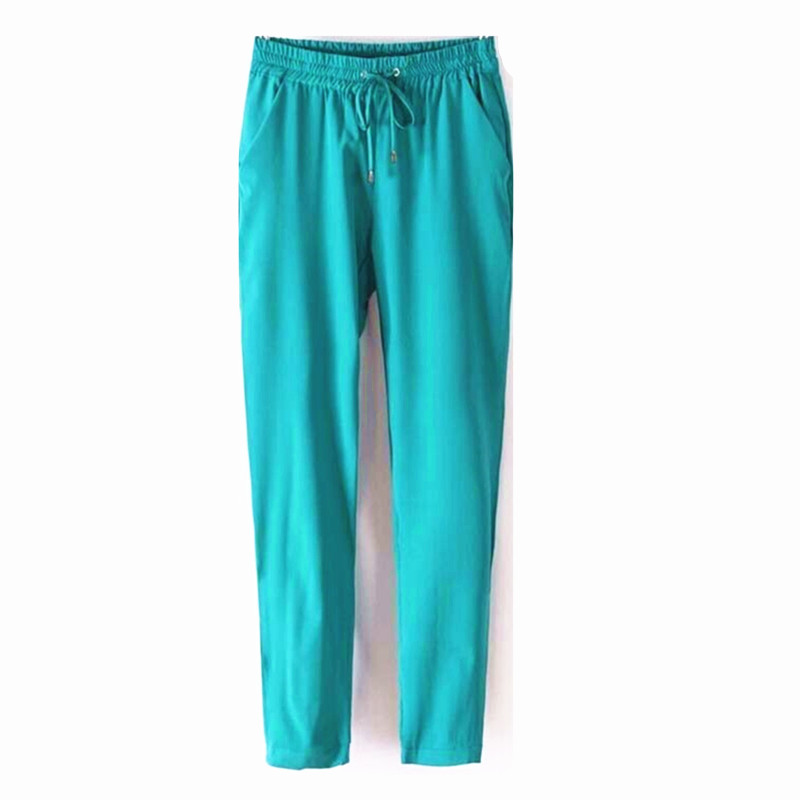 Innovative Womens Elastic Waist Pants 2 Pockets  Ladies Pull On Pants