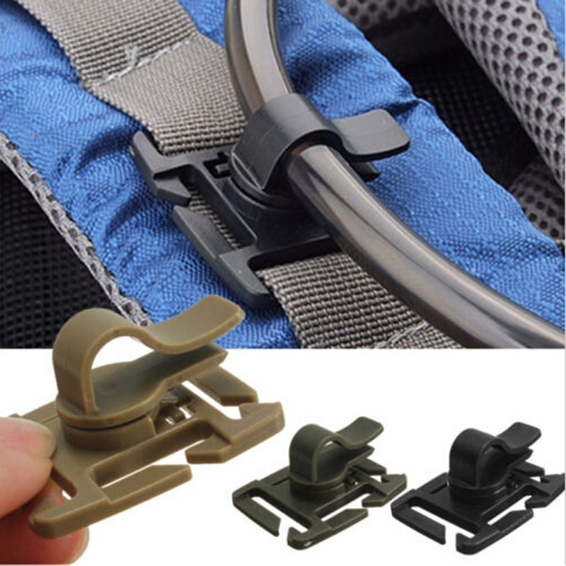 2 PCS Drinking Tube Clip Rotatable Molle Hydration Bladder Drinking Tube Trap Hose Webbing Clip Molle Fits for Camelbak(China (Mainland))