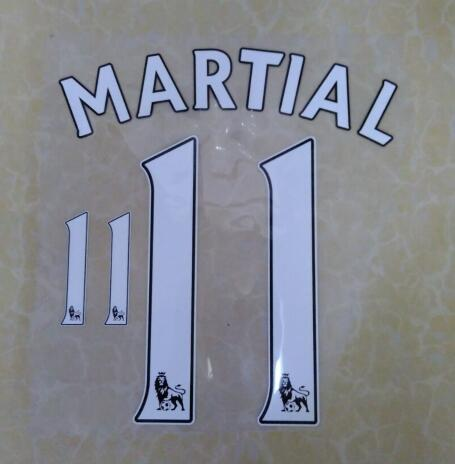 Adult and Kids #11 Martial 2016/17 EPL name sets Premier League Martial Namest Print 2017 Free Shipping(China (Mainland))