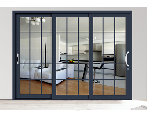 Double glazing exterior glass aluminium aluminum sliding for Double sliding doors exterior