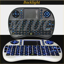 Genuine Backlight English i8 PRO Wireless Gaming Mini Keyboard 2.4G multitouch Touchpad Air Mouse For Ipad/PS3/XBox/TV Box Gamer