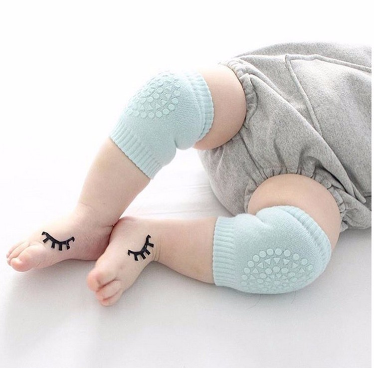 1 Pair Baby Boys Girls Infant Toddler Kids Soft Anti-slip Safety Crawling Elbow Cushion Knee Pad Braces & Supports