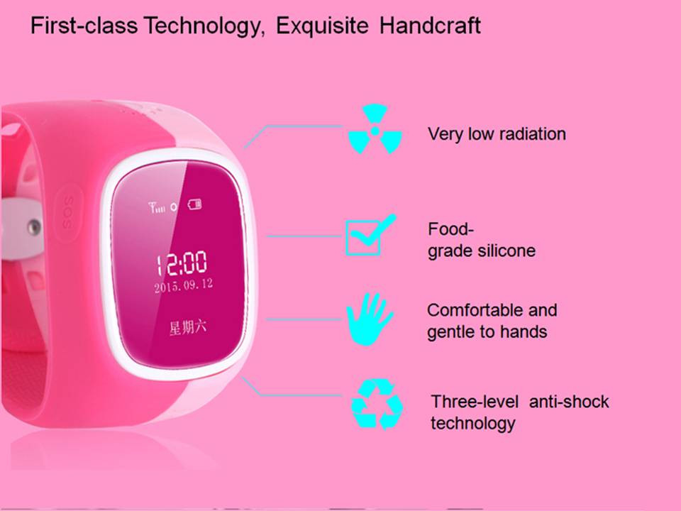 Kids Gift Smart Phone Watch GPS Tracker Anti-lost ,Intercom/ SOS /support SIM card Child Guard Wristwatch for iPhone IOS&Android