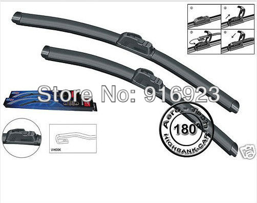 """2PCS RAIN DUST STROM REPEL U STYLE HOOKED ARM FIT FOR CAR WIPER BLADE 300M 1998 -2004 24""""+22""""(China (Mainland))"""