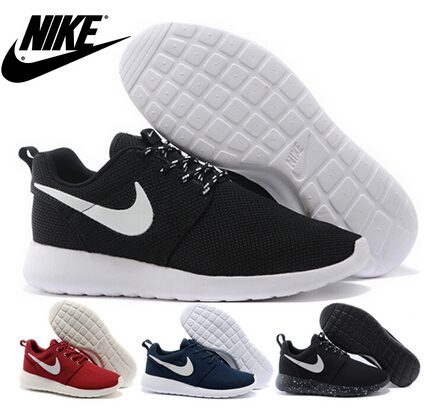NlKe brand ROshe Run original goods quality SHOes men and women roche Run black and white rushe one rose RunIngs 2015 size 36-45(China (Mainland))
