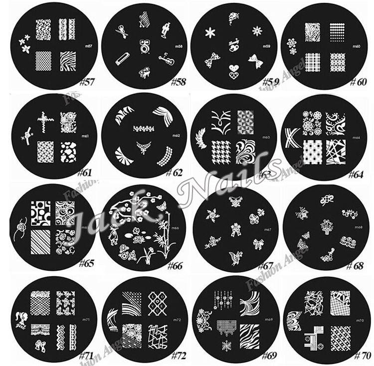 ногтей тиснения плиты, 10шт изображения шаблоны и 1set 2 способ тиснения скребок, 81designs стали лак konad ногтей штамп, ногтей инструмент