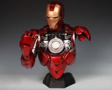 Avengers Iron Man Helmet Mk43 1:1 Scale Lights Resin Crafts Mk6 Hero Garage Kits Eye Light Switch In Stock(China (Mainland))