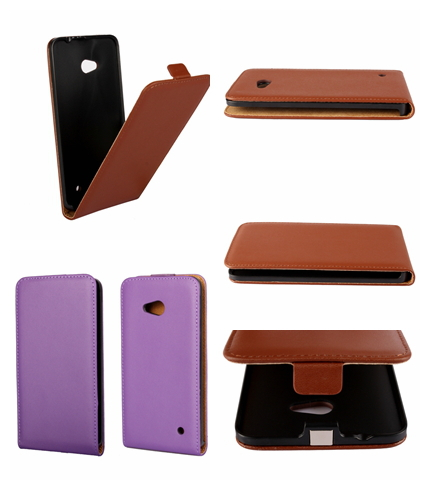 Flip Leather ,Genuine Real Leather For Nokia Microsoft Lumia 640 NK640 N640 Case Cell Phone Skin Purse Pouch 100pcs(China (Mainland))