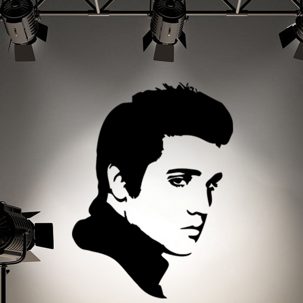 Buy elvis presley wall decal sticker for Silhouette wall art