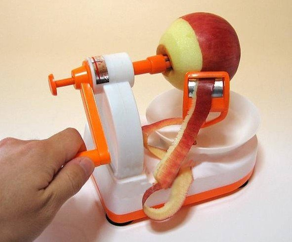 Novelty semi-automatic fruit peeler kitchen tool for apple pear etc. easy use wholesale and retail  free shipping