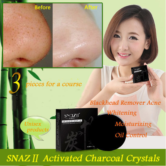 Bamboo charcoal handmade soap Treatment skin care natural Skin whitening soap blackhead remover acne treatment oil control 2Pcs(China (Mainland))