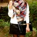 Za winter scarf 2016 women Tartan Plaid Scarf Desigual Scarf cuadros New Designer Unisex Basic Acrylic