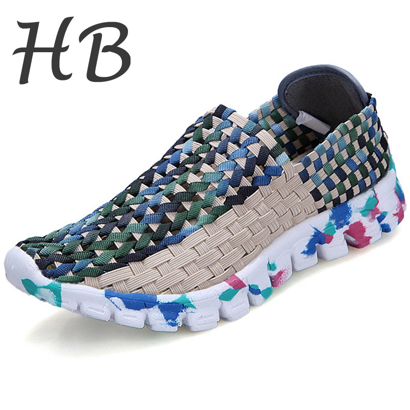 Discounts Brand Platform Shoes 2016 Spring Autumn Fashion Hollow Out Woven Casual Shoes Breathable Outdoor Flat Shoes Size 36-40<br><br>Aliexpress