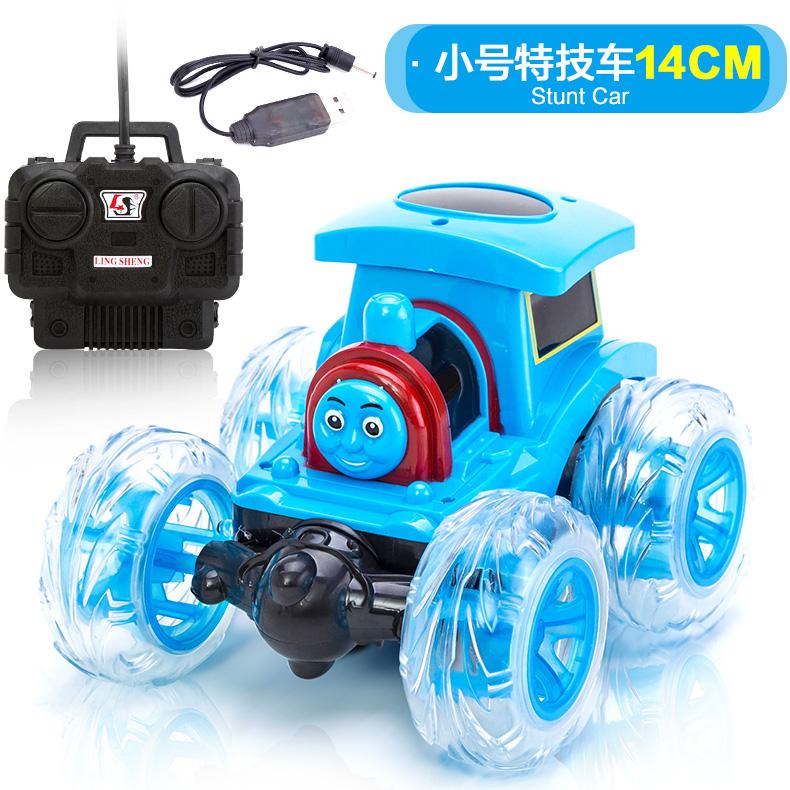Thomas charging skip remote control car tumbling stunt car moving small train remote control car toy car male children(China (Mainland))