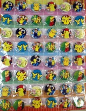 Pokemon 3 CM 48 pieces/lot set PIN BADGES new Cartoon& animation PIN back BUTTONS PARTY BAG CLOTH POKEMON GO