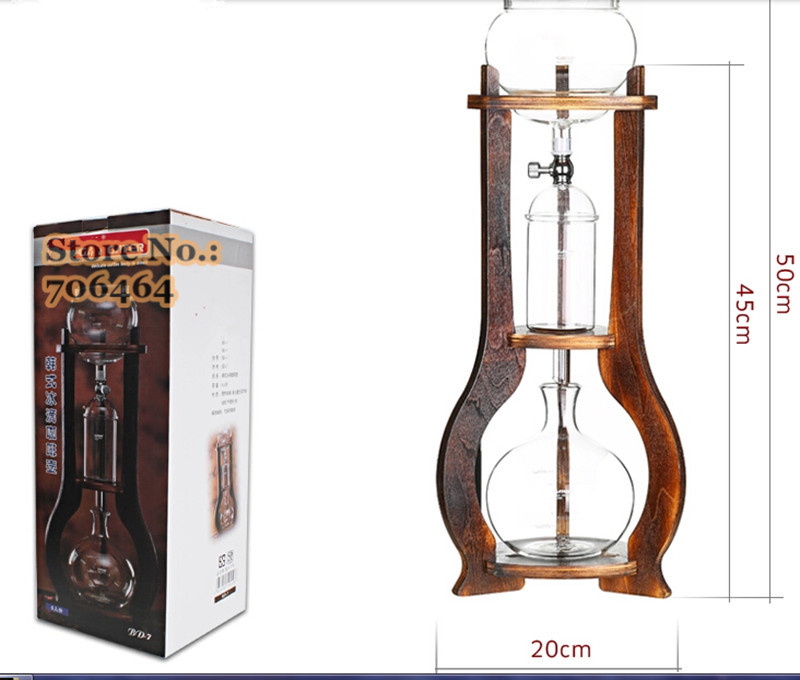 Aliexpress.com : Buy New Water/Ice drip coffee maker 6 cups with WOOD stand Ice coffee Dutch ...
