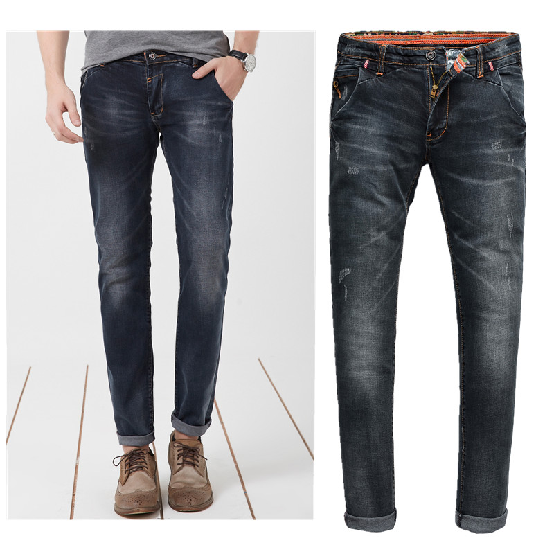 New Arrival True Jeans Men Brand High Quality Italian Style Of Men's Jeans Panelled Stretch Skinny Slim Fit 210 Size28-36 OEM