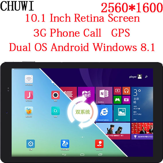 10 Inch Retina Screen 2560*1600 Dual Boot Android 4.4 Windows 8.1 Tablet PC 3G Sim Card Phone Call GPS(China (Mainland))
