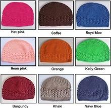free shipping,21 color + light grey) Baby Toddler Kufi Crochet Beanie Baby Kufi Hat Kufi Cap Baby Girl's Crochet Beanie 2000pcs(China (Mainland))