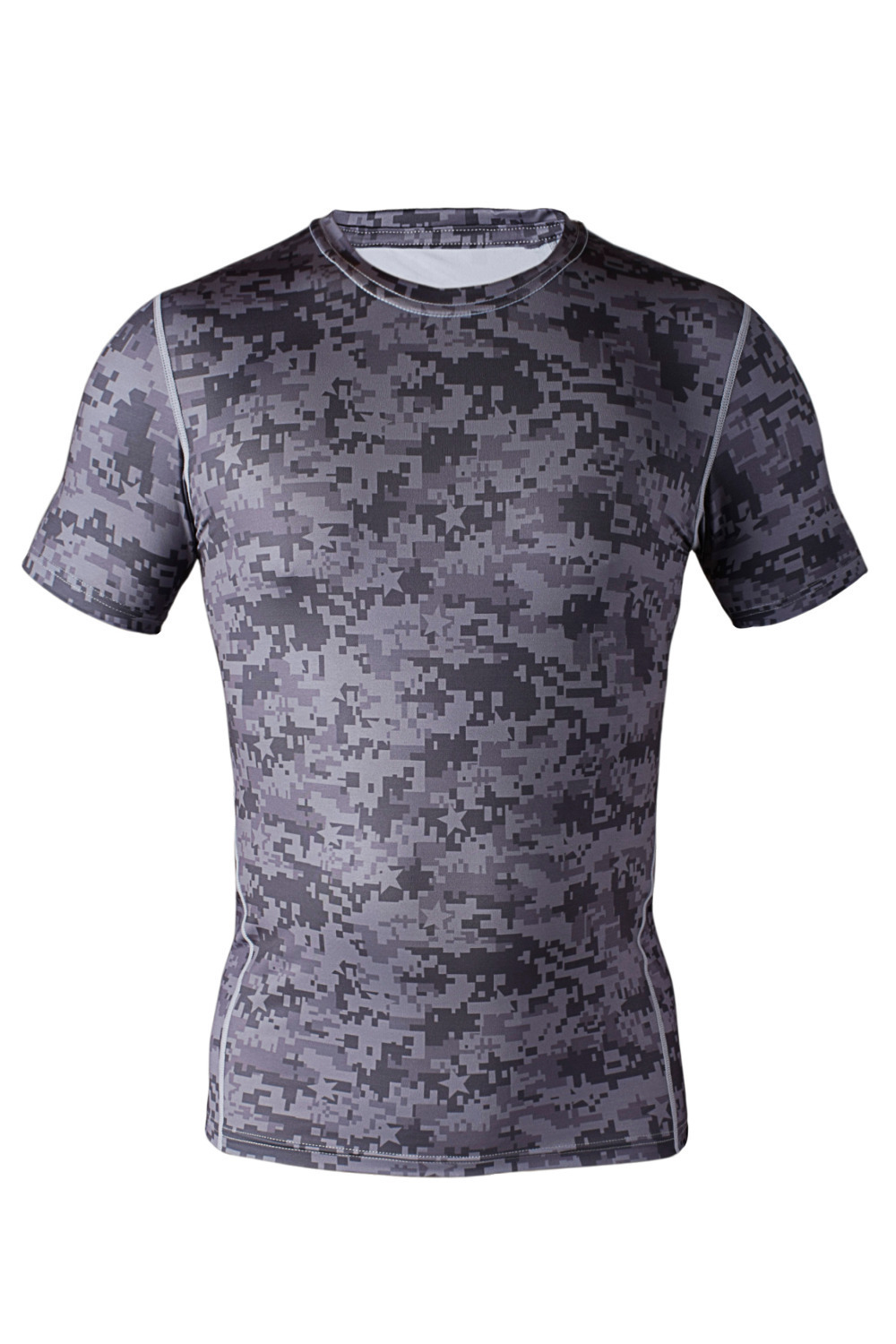 Camouflage shirts new men camo clothing compression shirts for Dress shirts for athletic guys